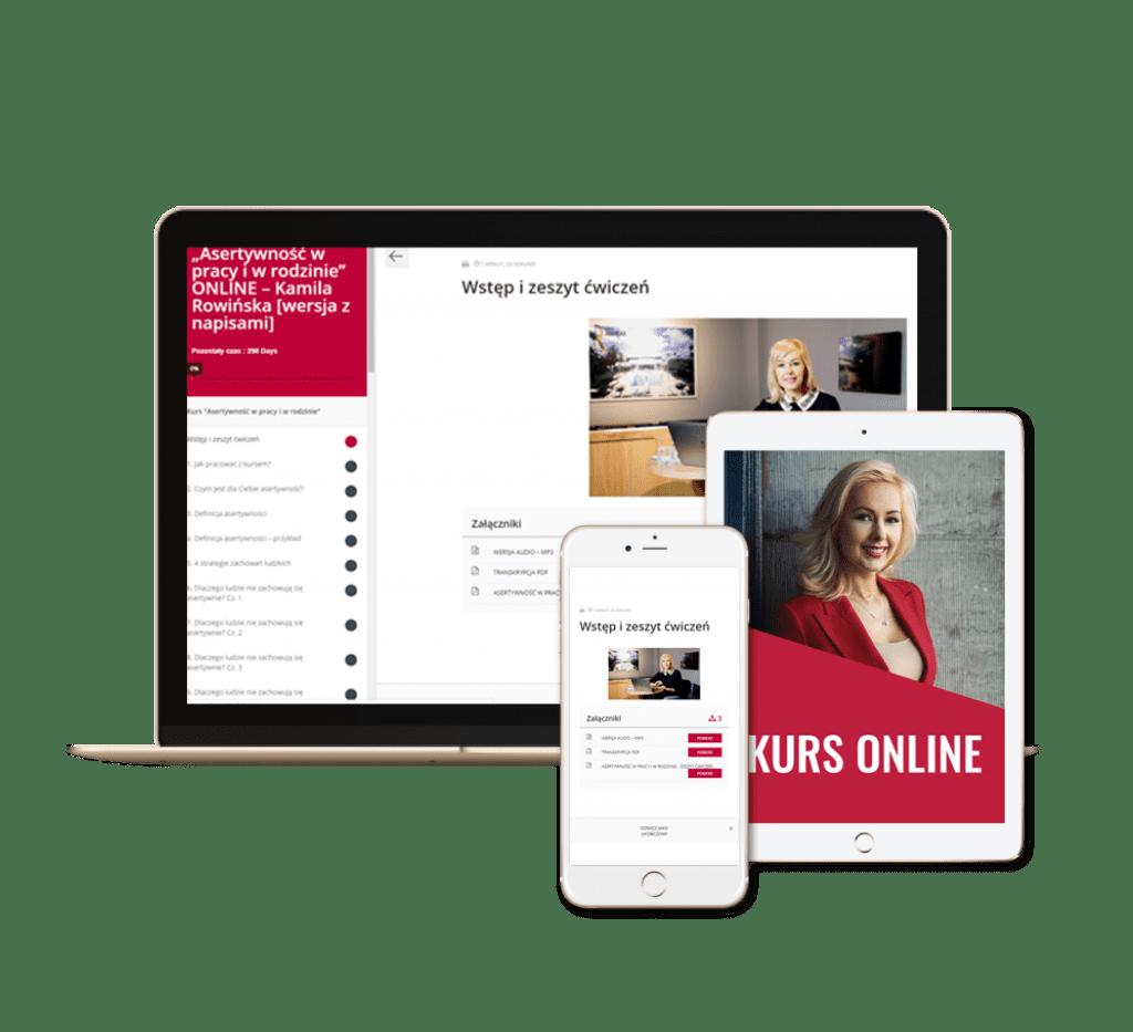 Asertywność w pracy i w rodzinie kurs online Kamila Rowińska